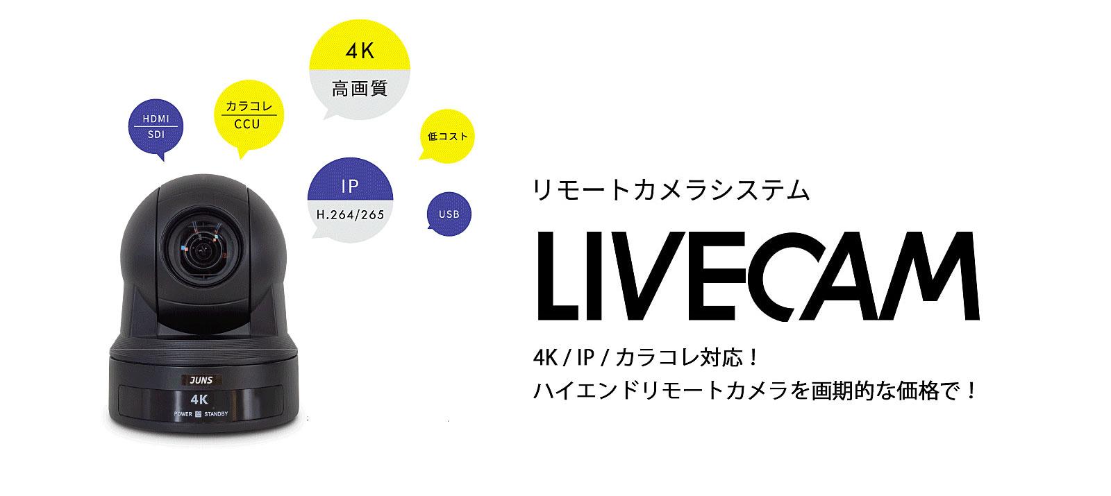 4K/IP対応/HD-SDI対応ハイエンドリモートカメラ